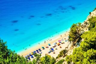lefkada porto ligia mylos beach