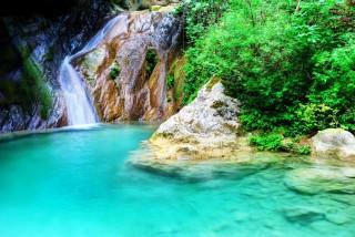 lefkada porto ligia waterfalls